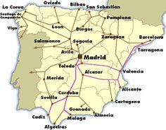Trains In Spain Map.Cam Coggburn Camcoggburn On Pinterest