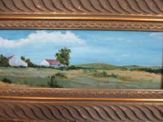 Miniature Original Oil Painting The Outskirts of by lilylafrance, $110.00 I love this painting!