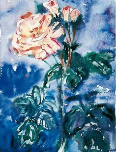Anselm Kiefer (German b. 1945), Rose, 1970. Watercolour on lightly grained ivory watercolour paper, 39.8 x 29.9 cm.