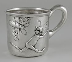 Unusual and amusing Clemens Friedell sterling silver child's cup - (SMP Silver Salon Forums)