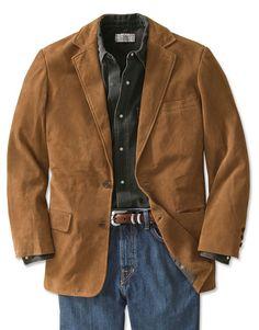 Mens Leather Blazer - Presidential Suede Blazer -- on Orvis.com!