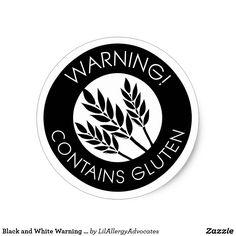 Warning! Contains Gluten . . . Classic Round Sticker | Zazzle