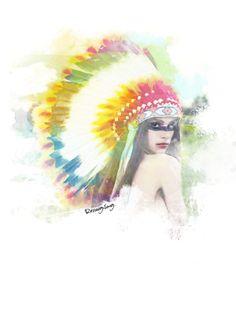 Native Indian GIrl by Rezaagilang Pratamadinata, via Behance