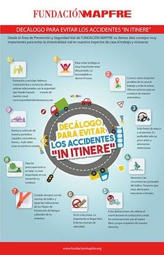 Decálogo para evitar accidentes de tráfico 'in itinere'