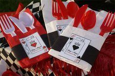 Parties & Surprises - Queen of Hearts-Quinceanera Red Queen, Queen Queen, 75th Birthday Parties, Birthday Ideas, Game Night Parties, Sweet 16 Themes, Queen Of Hearts, Quinceanera, Alice In Wonderland