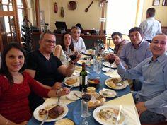 Comida en Chile, junto a amigos de Venezuela, Chile y España