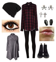"""Grunge"" by bleeding-neverland on Polyvore featuring AG Adriano Goldschmied, ONLY, Dr. Martens, Vans and Studio 8"