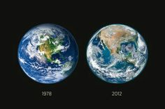 NASA releases a before and after of deforestation in America. //34 years. We're killing our planet.