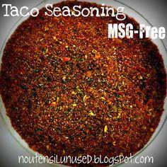 Taco Seasoning Mix - MSG-Free Recipe