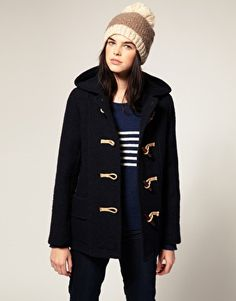 Gloverall Boiled Wool Heritiage Coat with Jute and Wooden Toggles £255.00