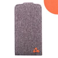 Oxford Tweed Slim Shell Folio with Orange Lining For iPhone 4/4s by iChic Gear