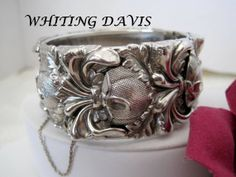 Vintage Whiting Davis Silver  Bracelet by VintagObsessions on Etsy, $52.00