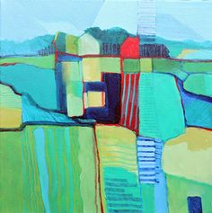 "Farm by Anne Labaire Acrylic ~ 12"" x 12"""