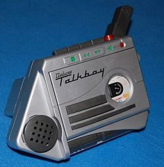 """Talkboy. """"This is Peter McCalister. I'd like a hotel room please. With an extra large bed, TV, and one of those little refrigerators you have to open with a key. Credit card? You got it."""" Home Alone 2"""