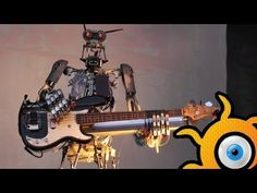 Robot-metal band Compressorhead - FULL! concert in Moscow in 18.05.2014! - YouTube