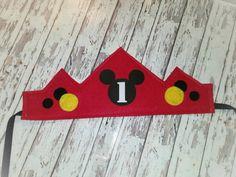 Corona de cumpleaños de Mickey Mouse con por MyHeartnSoulBoutique