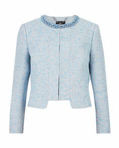 1c1eac4e05c27 Crystal collar jacket - Powder Blue
