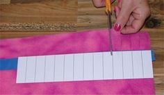 How to make a template for cutting fleece edge and different cuts that can be used
