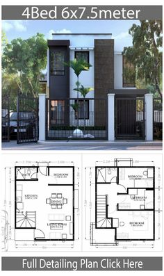 House Layout Design, Small House Layout, Modern Small House Design, House Layout Plans, Simple House Design, Small Modern Home, Bungalow House Design, Minimalist House Design, Small House Plans