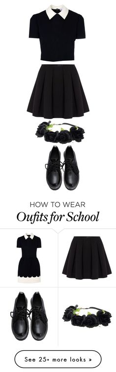 """""""All School"""" by gracerose03 on Polyvore featuring RED Valentino, Polo Ralph Lauren, women's clothing, women, female, woman, misses and juniors"""