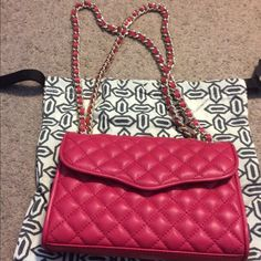 Rebecca Minkoff Mini Affair Crossbody/Shoulder Bag Rebecca Minkoff Mini Affair Crossbody/Shoulder Bag in Watermelon. Only carried once! Excellent condition! Rebecca Minkoff Bags Shoulder Bags