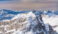 Birkkarspitze, Karwendel, Tyrol, aerial, luftbild