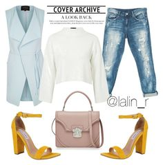 """""""Без названия #79"""" by abk-2103 ❤ liked on Polyvore featuring River Island, Sans Souci, Steve Madden, Alexander McQueen and Topshop"""