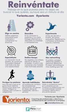 9 consejos para Reinventarte Profesionalmente #infografía
