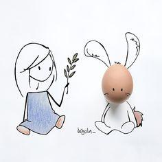 SnapWidget | Wishing you a very Happy Easter  Buona Pasqua a tutti ❤️ #virginiasdraws
