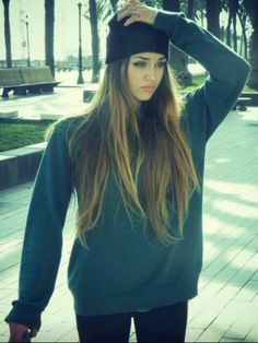 beanie skater girl style