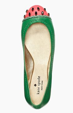 kate spade ♠ watermelon flats - i have no idea what I would wear them with but I like them. Cute Shoes, Me Too Shoes, Ugg Boots, Shoe Boots, Pumps, Shoe Closet, Crazy Shoes, Adidas Nmd, Baskets