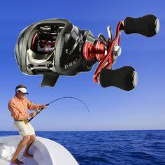 Hot Fishing Reel Left Hand 12B+RB 6.3:1 Bait Casting Fishing Reel Saltwater Practical Spinning Reel Fly Reels Fishing Windlass