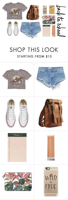"""""""BTS"""" by m-phil ❤ liked on Polyvore featuring Billabong, OneTeaspoon, Converse, Rifle Paper Co, Casetify, shorts, contestentry, bts and backttoschool"""