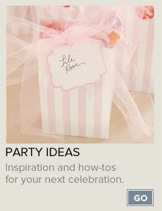 Unique Products & Ideas for Memorable Parties - cocodot...Send online invitations too
