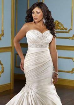 Vestido de noiva tamanho plus size. Foto: Bonny