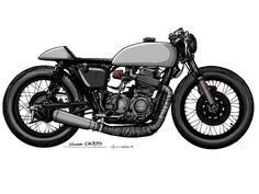 Honda Cafe Racer design by TomaszKobus #motorcycles #caferacer #motos | caferacerpasion.com