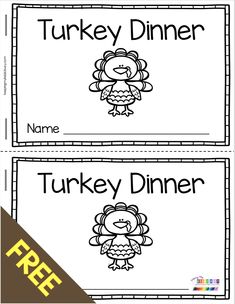 FREE TURKEY BOOK - Thanksgiving and November themed reading and writing resources - free worksheets and printable activities for whole group - small group - reading intervention and literacy centers - pre-k - preschool - kindergarten and first grade Thanksgiving Activities For Kindergarten, Thanksgiving Worksheets, Thanksgiving Writing, Fall Preschool, Preschool Lessons, Kindergarten Literacy, Preschool Classroom, Preschool Learning, Preschool Activities
