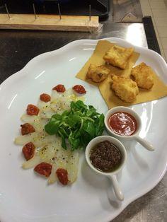 Baccalà crudo e in tempura