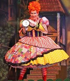 Bradford actor Andrew Ryan as Nurse Nelly in Robin Hood –The Pantomime Adventure