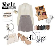 """She's in Effortless Style with SheIn!"" by two-faced-honey on Polyvore featuring Hermès, White House Black Market, Temperley London, Nine West, Urban Decay, Forever 21, NARS Cosmetics, Stila and Bobbi Brown Cosmetics"