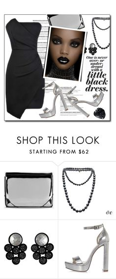 """Black and silver"" by court8434 ❤ liked on Polyvore featuring MM6 Maison Margiela, Chanel, Jennifer Loiselle, River Island, GUESS and LBD"