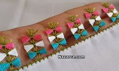 shear-bow-needle-Oyasu Source by asiyekrgoz Saree Tassels Designs, Saree Kuchu Designs, Blouse Designs Silk, Dress Neck Designs, Cross Stitch Embroidery, Hand Embroidery, Diy And Crafts, Arts And Crafts, Crochet Motif