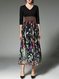 SHARE & Get it FREE | Midi Floral Printed V Neck DressFor Fashion Lovers only:80,000+ Items • New Arrivals Daily • Affordable Casual to Chic for Every Occasion Join Sammydress: Get YOUR $50 NOW!