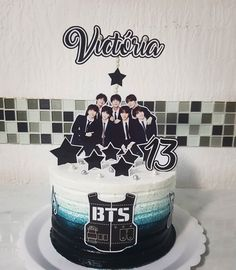 Bts Cake, Bts Birthdays, Birthday Parties, Birthday Cake, Bts Beautiful, Bts Drawings, Birthday Design, I Love Bts, Foto Bts