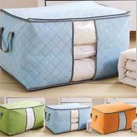 Large Zip Handle Storage bag Duvet Bedding Clothing Blanket Pillows Pillows Bag