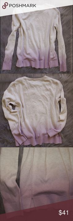 "Lou & Gray Ombré Cream & Lavender Top Medium I think Ombré is so cool. So, when I saw this top, it immediately caught my eye. It's very cool and very unique. Gently used in great condition. Cream transitions to lavender at bottom. Ribbed neckline. Soft 100% Cotton. (Oh, I learned that the ""Lou & Gray"" brand is a part of their parent company, Ann Taylor LOFT)   Retails $60 Lou & Grey Tops Tees - Long Sleeve"
