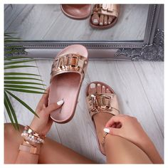 Palm Beach Sandals, Pool Slides, Slip On, Shoes, Fashion, Moda, Zapatos, Shoes Outlet, Fashion Styles