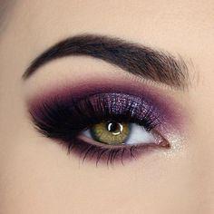 eye makeup in purple glitter #eyeshadow #eyemakeup #mua #purple