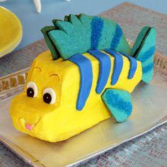 tarta flounder botje van ariel de kleine zeemeermin taart