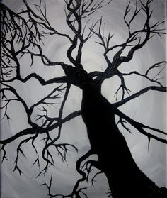 Tree in silhouette.